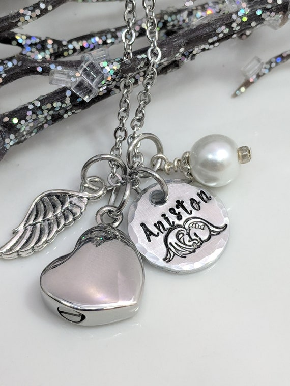 Loss of Baby-Loss of Child-Infant Loss-Urn Jewelry-Customized Urn-Heart Urn-Angel Baby-Mother of an Angel-Cremation Urn-Stillborn Gift