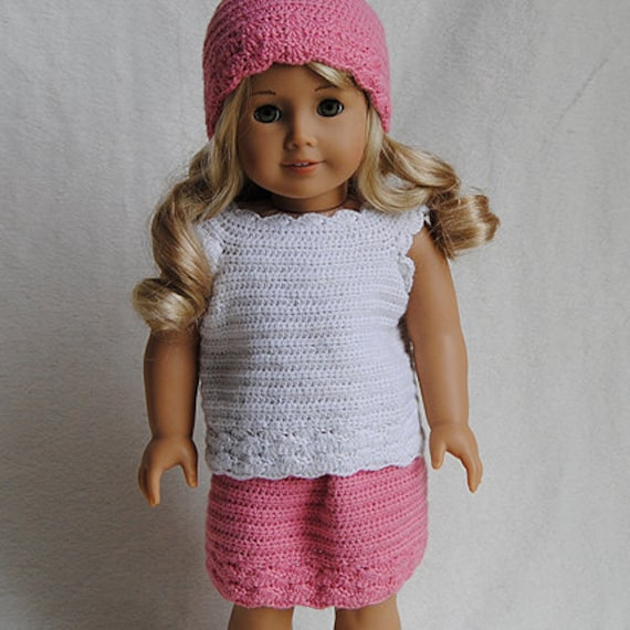 Instant Download Pdf Crochet Pattern American Girl Doll