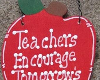 Teacher Gifts Wooden Apple Teachers Encourage Tomorrow's Dreams