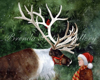FAITH, HOPE and REINDEER, a boy and his woodland friend