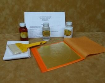 Imitation Gold/ Silver /Genine Copper Loose Leaf Kit 2oz: