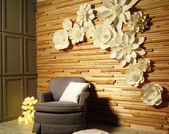 Paper Flower Backdrop - Large Paper Flowers - Wedding Backdrop - Paper Flower Decorations - Paper Flower Centerpiece - Paper Flower Wall
