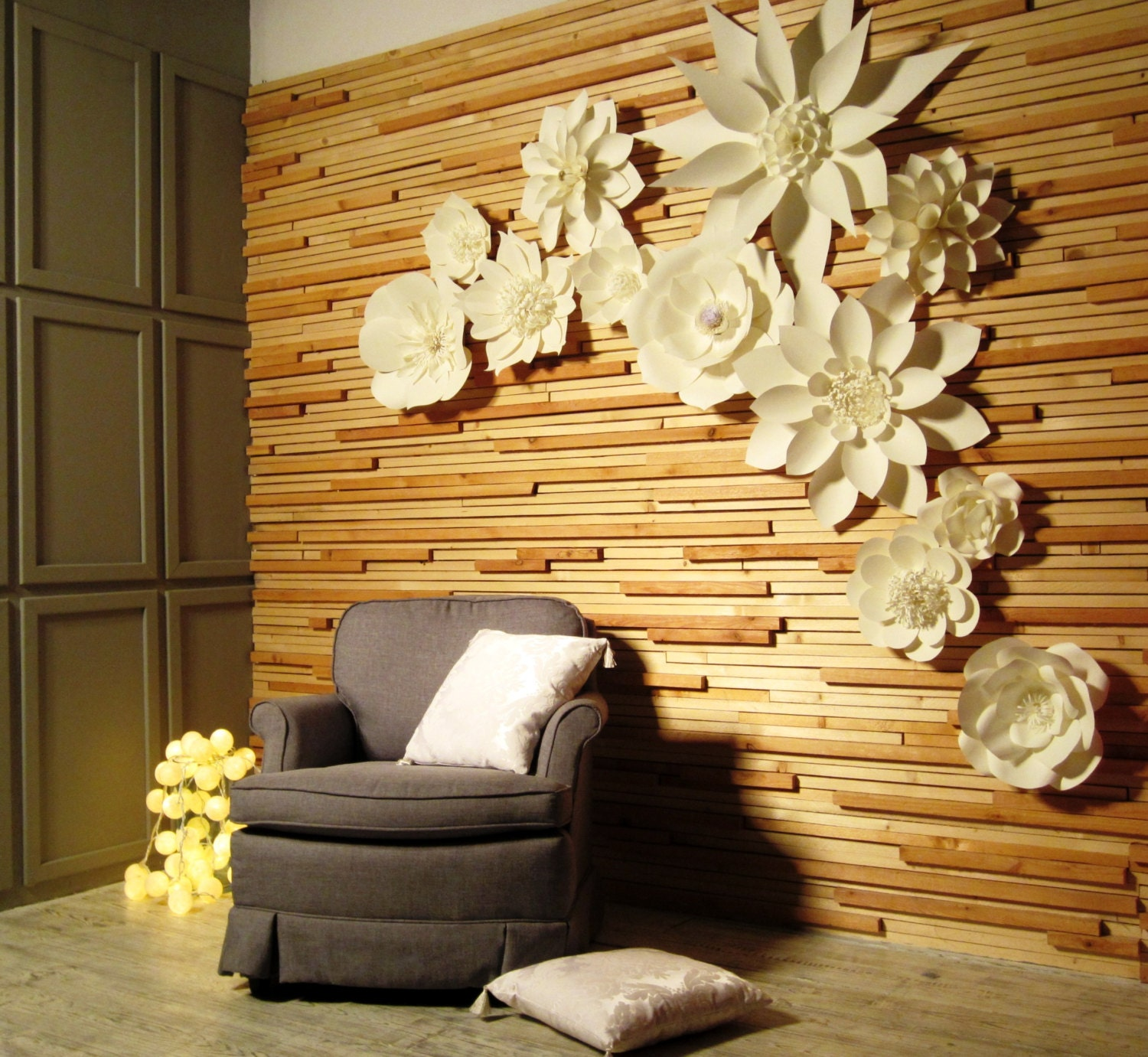 Paper Flower Backdrop Large Paper Flowers Wedding Backdrop