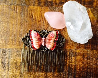 Vintage Inspired Butterfly Hair comb