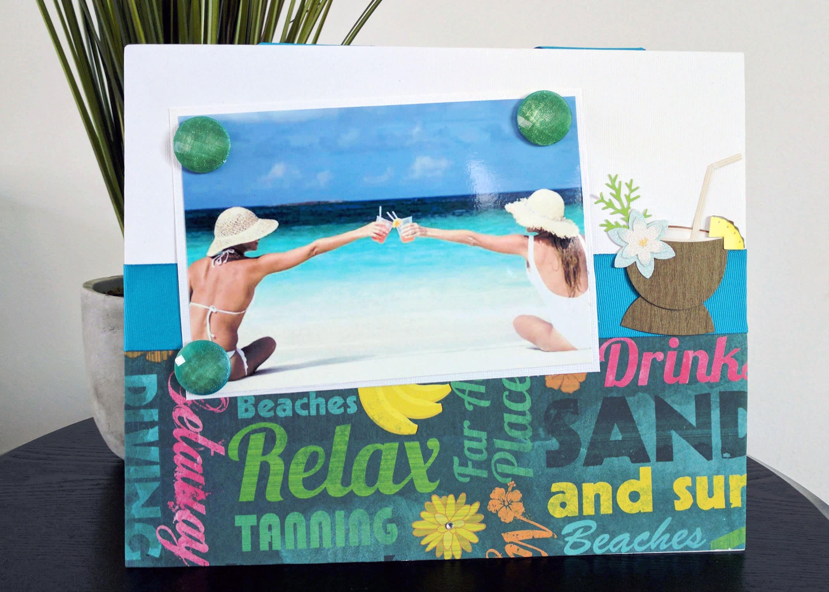 Marco de fotos magnético de Tropical Beach vacaciones versión
