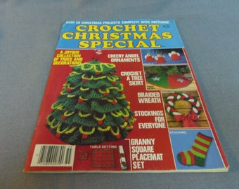Crochet Patterns, Crochet Christmas Special 1975, Ornaments, Home Decor, Christmas Tree, Wreath, Stocking