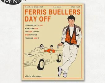 FERRIS BUELLER'S Day Off, Movie Poster, Fine Art Print