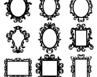 Baroque Frames Clipart Clip Art Vintage Borders