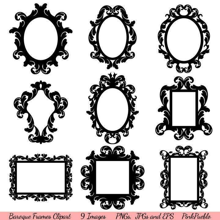 Barocken Rahmen Clipart ClipArt Vintage-Rahmen Grenzen