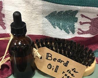 Rugged man bears oil