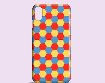 Patchwork phone case / hexagons iPhone X case / iPhone 8 / iPhone 7 / iPhone 7 Plus / iPhone 6 / iPhone 5/5S, Se / Samsung Galaxy S6, S5