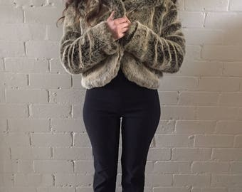 Bear Look Faux Fur Jacket