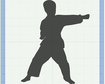 Karate Kid Cutting file. SVG & Scut3 file formats included. Sizzix / Cricut / eCal / Sure-Cuts-a-Lot