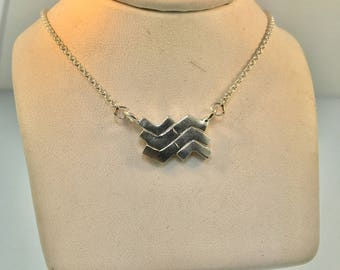 North and South Chevron Necklace