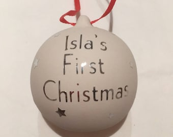 Personalised first Christmas Bauble, Christmas, Bauble, Tree Decoration, Decoration, Keepsake, Baby Gift