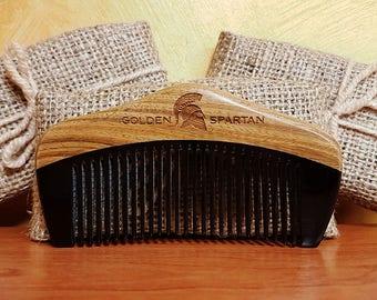 Beard Comb Lux - The Golden Spartan