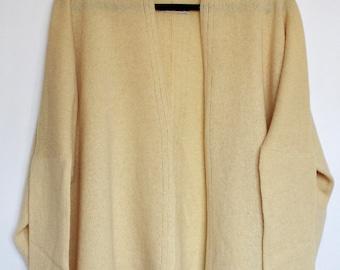 Soft Merino Lambswool Box Jacket Lemon Yellow