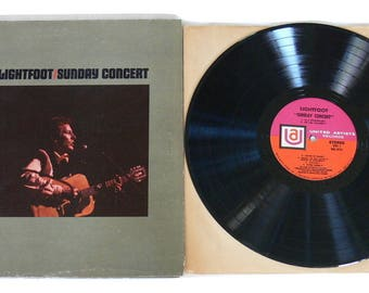 Gordon Lightfoot - Sunday Concert - Vintage 1969 Vinyl LP
