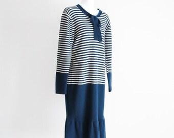 Adrienne Vittadini -80's do the 20's Fine Knit Dress -Sz M