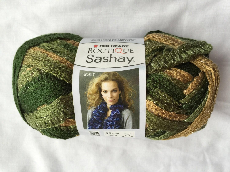 CONGA Sashay Ruffle Scarf Yarn ~ Green Ruffle Yarn ~ RedHeart ...