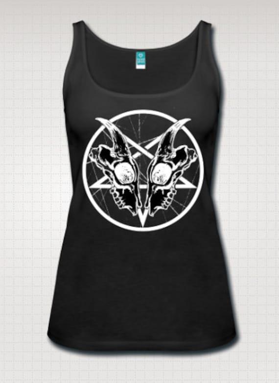 pentagram goat skull tank