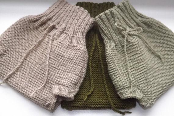 Hand knit pants adult