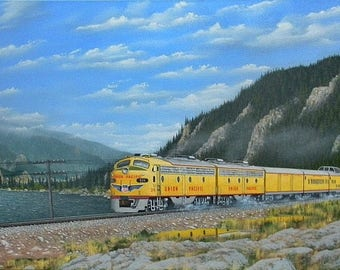 "Union Pacific's ""Portland Rose"" in the beautiful Columbia River Gorge, in Oregon. ."