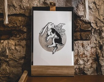A4 - Poster / Poster - Paper - forest - SILVER rabbit