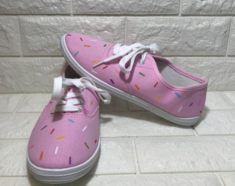 Pink Donut Shoes [doughnut shoes] YUM! donut toms! Pink Donuts