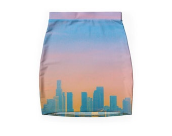 Los Angeles Skyline ~ Bodycon Pencil Skirt ~ Skyscrapers ~ Buildings ~ SoCal ~ Women's Fashion ~ Skyline