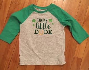 Lucky little dude shirt, St Patrick's day