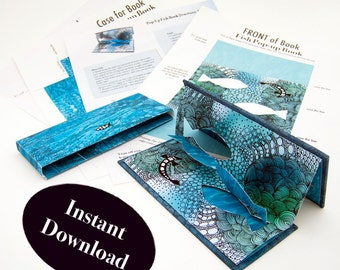 How to make a DIY pop-up book and case, pop-up tutorial, instructions on how to make a slipcase