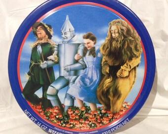1989 Vintage Tin/Wizard of Oz/50th Anniversary/Denmark Cookie Tin/Dorothy/Tin Man/Cowardly Lion/Scarecrow/Toto
