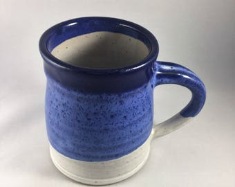 Handmade wheel thrown pottery mug