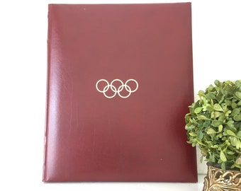 Vintage Olympic Hardback Book Coffee Table Book Burgandy Book Olympic Games 1995 Olympic Coffee Table Book Sports Book Olympic Games
