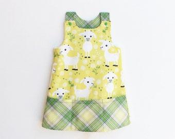 BAA BAA Girl Baby Girl Dress sewing pattern Pdf, Girl Overall Jumper Pinafore pattern, toddler dress, newborn up to 10 years
