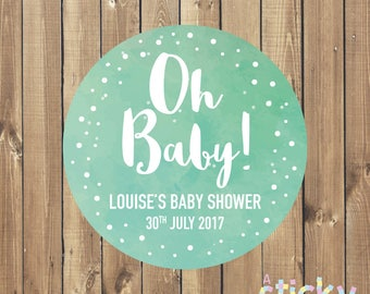Personalized Baby Shower Stickers, Baby Shower Stickers, Baby Shower Labels, Baby Sprinkle, Baby Shower Favors, New Baby Stickers, Baby