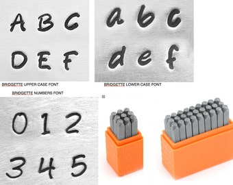 ImpressArt 3mm BRIDGETTE BASIC Letters Upper/Lower or Numbers, Jewelry Stamping Tools, stamps, Metal Stamps, metal stamping tools