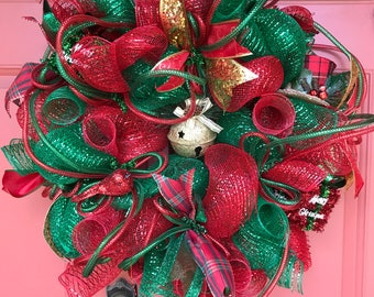 Christmas wreath, Christmas wreath for front door,