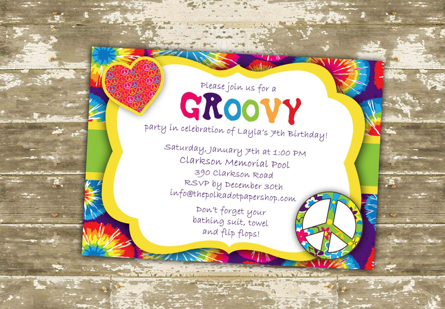 tie dye party invitations et83 advancedmassagebysara
