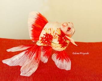 """Needle felted goldfish""""Oni"""""""