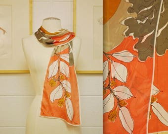 Vintage VERA Silk Scarf / Made in Italy / Retro Collectable Rare