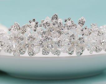 SALE! Swarovski Crystal Bridal tiara headpiece, wedding tiara, wedding headpiece, crystal tiara, Ada Swarovski Crystal Tiara