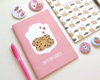 Nuts for Cookies - Blank A5 Notebooks - Journal