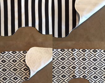 Baby and toddler item - Burp cloth -  Flannel burp cloth - countoured burp cloth
