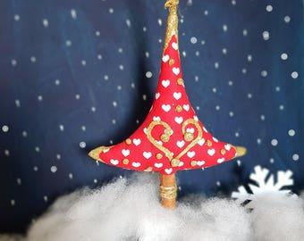 Tree decorations Christmas tree hanging ornament Christmas fabric handmade ornaments cinnamon trunk Christmas tree