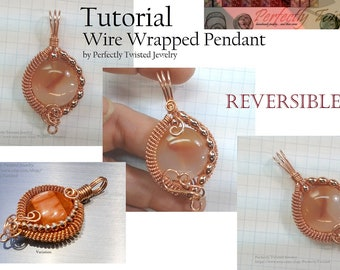 TUTORIAL Wire Wrapped Jewelry Pendant, Beginner to Intermediate Jewelry Pattern, Making a Wire Coiled and Beaded Pendant, Perfectly Twisted