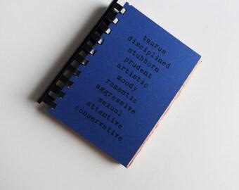 TAURUS zodiac traits - comb-bound notebook