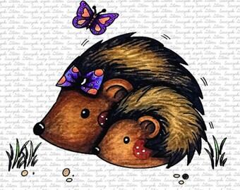 Hedgehogs Digital Stamp By Sasayaki Glitter