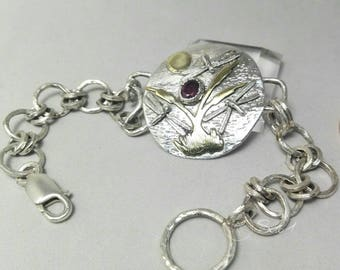 925 silver bracelet with ruby spinel